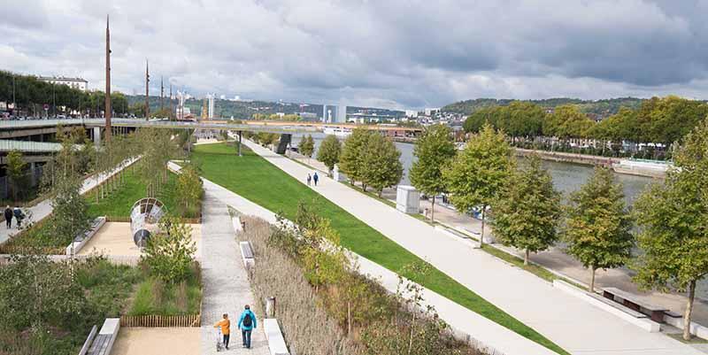 Il parco fluviale di Rouen in Francia